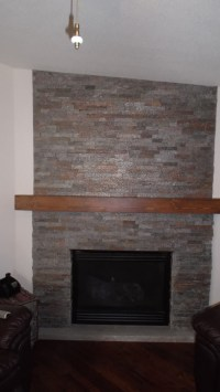 Stack Stone Fireplace | Badger Home Improvement
