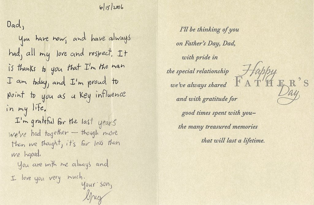 Final Father\u0027s day card from Gregory Joseph Badros to \u003ca href\u003d\