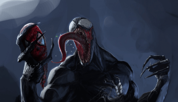 Venom-with-Spideys-head.-675x385