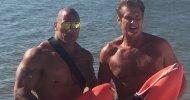 Baywatch: ecco David Hasselhoff con Dwayne Johnson e Zac Efron sul set!