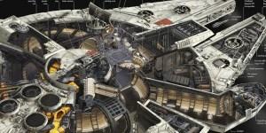 millennium falcon star wars concept