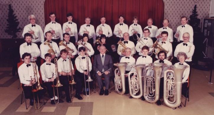 GEC Avionics Brass Band in 1986