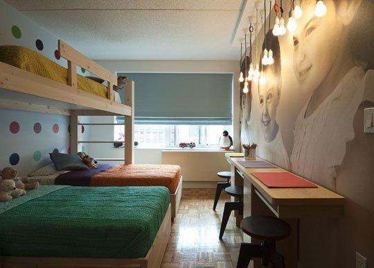 Decoração Um quarto para três irmãos Bagagem de  ~ Quarto Pequeno Para Tres Pessoas