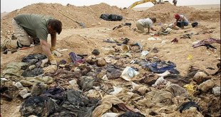 Baathists crimes of the past, mass grave of Kurds being uncovered in 2005.