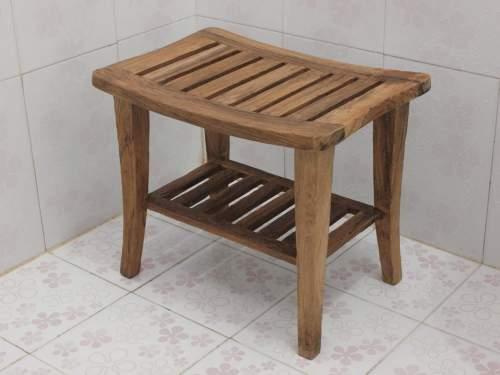Medium Of Teak Shower Bench