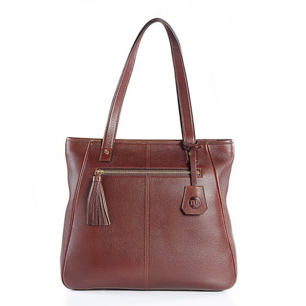 TLB Butter Leather Tasselled Tote