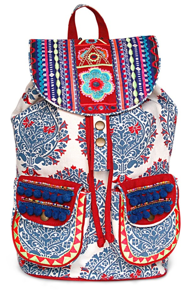 Limeroad White Embellished Backpack