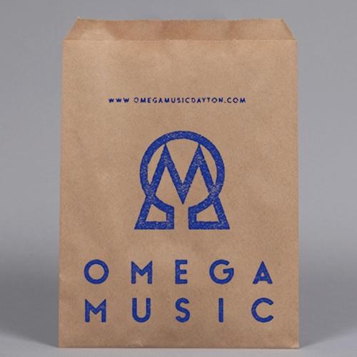 Custom PRINTED Kraft Paper Bag 8 x 11\