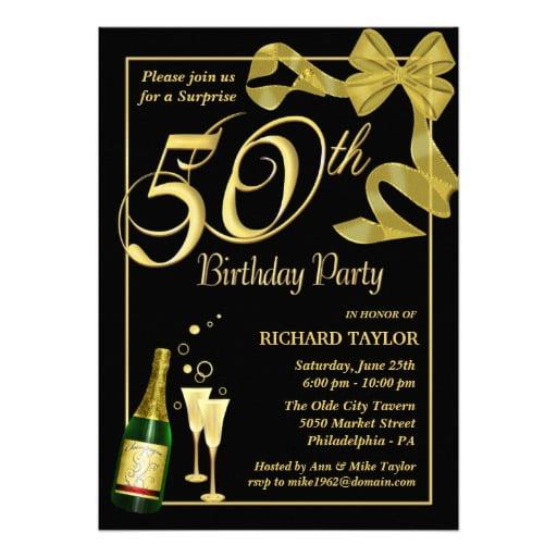 50th birthday invitation templates free printable \u2013 FREE Printable