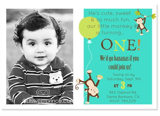 1st Birthday Invitations Ideas For Boys Free Printable