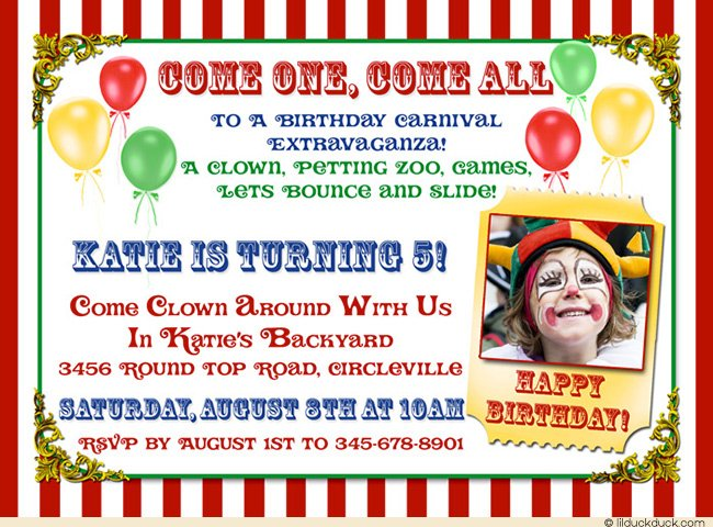 5th Circus Party Invitation Ideas \u2013 Bagvania FREE Printable - Circus Party Invitation