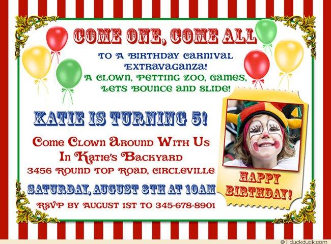 5th Circus Party Invitation Ideas \u2013 Bagvania FREE Printable - Circus Party Invitation