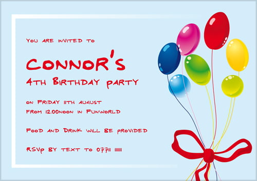 Kid Birthday Invitation Template \u2013 orderecigsjuiceinfo - kids birthday invites