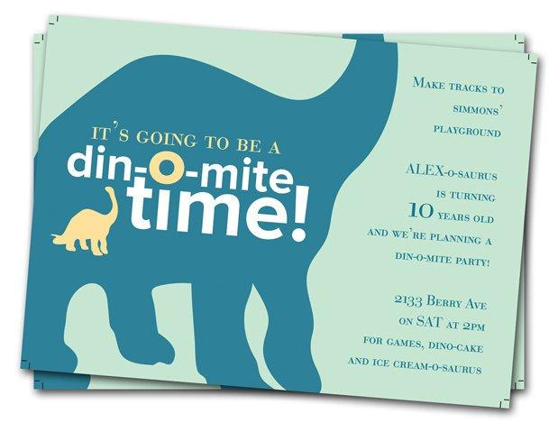 Brontosaurus Dinosaur Birthday Party Invitations Free