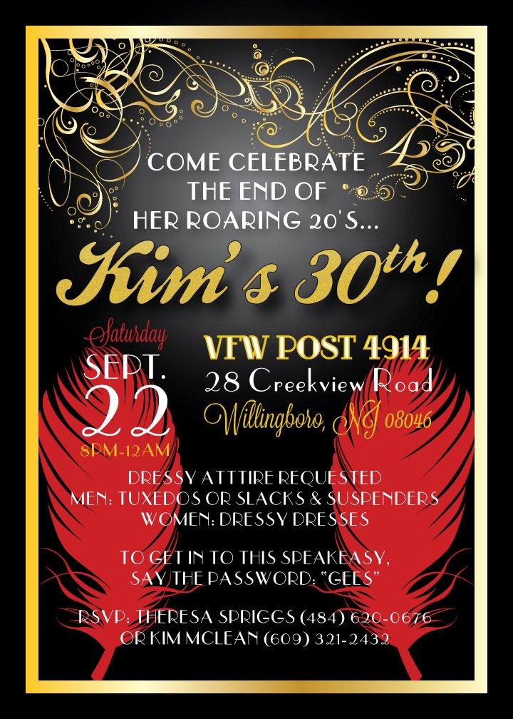 Golden 30th Ideas \u2013 FREE Printable Birthday Invitation Templates