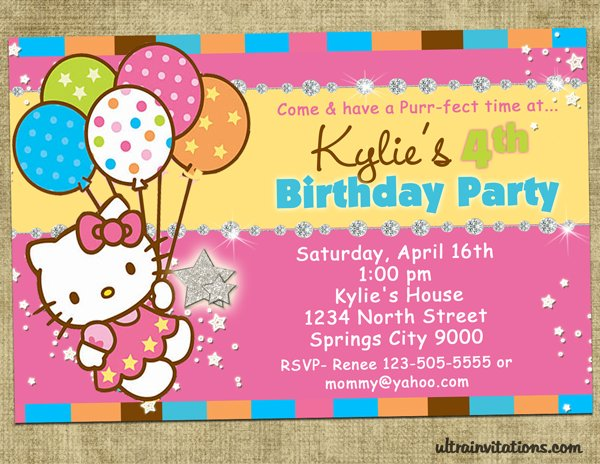Hello Kitty Birthday Invitations Ideas \u2013 Bagvania FREE Printable
