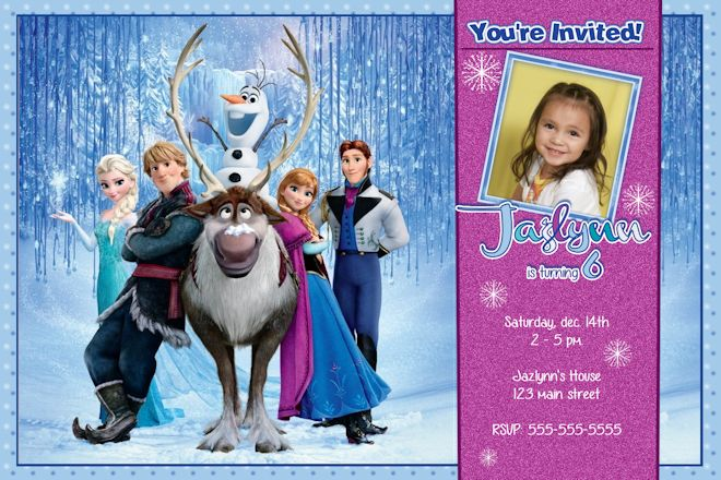 Ice Backdrop Frozen Birthday Party Invitations \u2013 FREE Printable