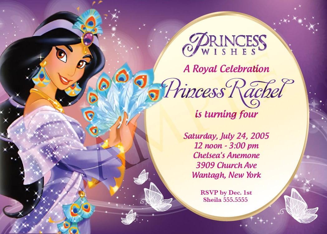 Disney Princess Birthday Invitations Ideas \u2013 Bagvania FREE Printable