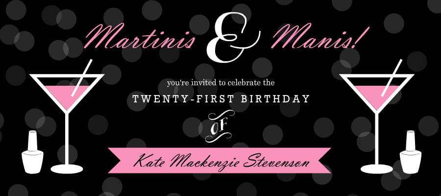 Luxury 21st \u2013 FREE Printable Birthday Invitation Templates \u2013 Bagvania