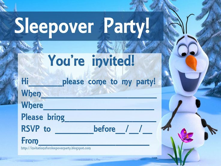 Olaf Frozen Birthday Party Invitations Template \u2013 FREE Printable