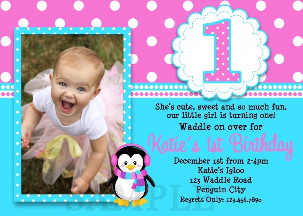 Girlu0027s Birthday Invitations Ideas u2013 Bagvania FREE Printable - free first birthday invitation template
