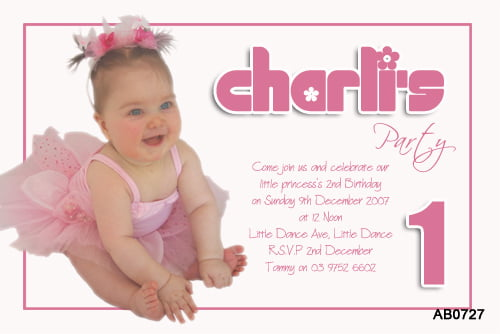 Funky chic first birthday party invitations \u2013 FREE Printable