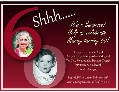 Invitation for 60th birthday party \u2013 FREE Printable Birthday