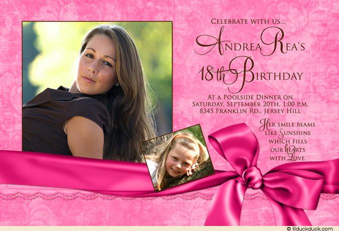 Pink 18th Birthday Invitation Ideas u2013 Bagvania FREE Printable - free 18th birthday invitation templates