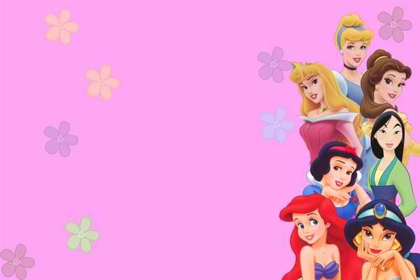 Pink Template Disney Princess \u2013 Bagvania FREE Printable Invitation