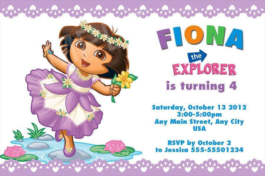 Princess Dora Ideas \u2013 FREE Printable Birthday Invitation Templates