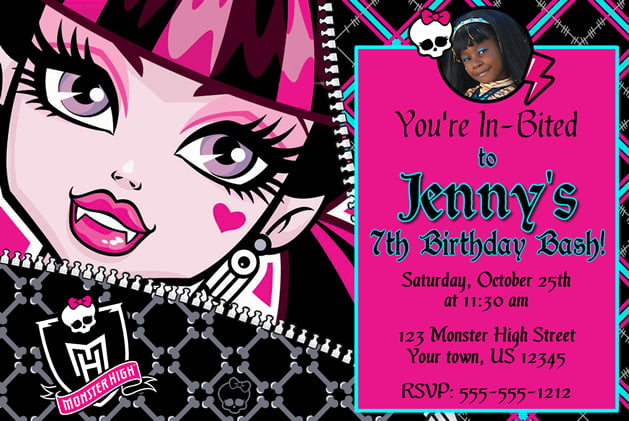 Monster High Birthday Invitations Ideas Bagvania Free