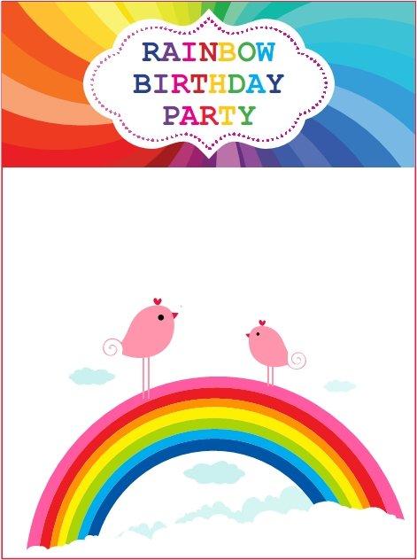 rainbow birthday invites