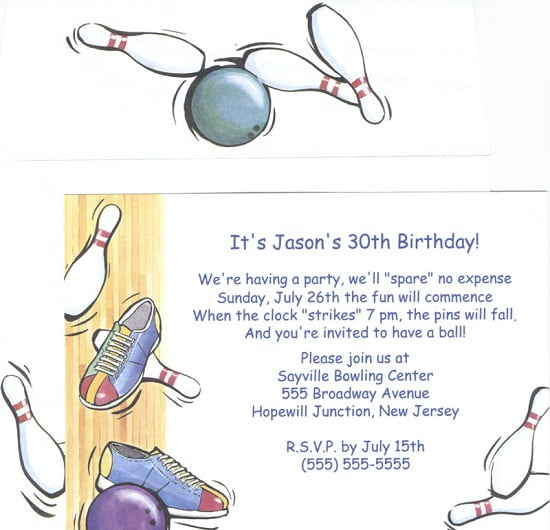 Bowling Birthday Party Invitations ideas \u2013 FREE Printable Birthday