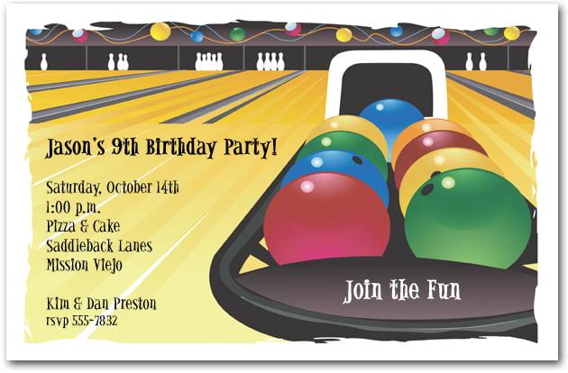 bowling game birthday party invitations \u2013 FREE Printable Birthday