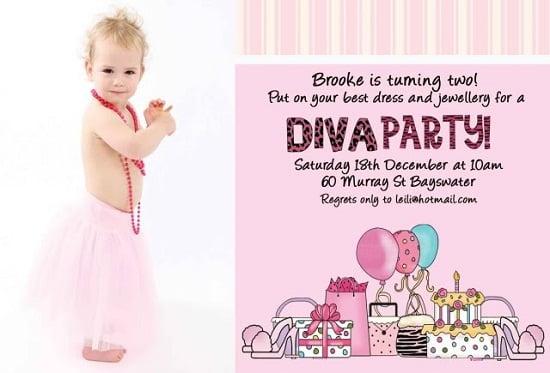 Custom Photo Diva Birthday Invitations Free Printable