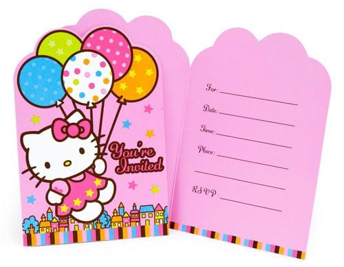 Hello Kitty birthday party invitations templates \u2013 FREE Printable