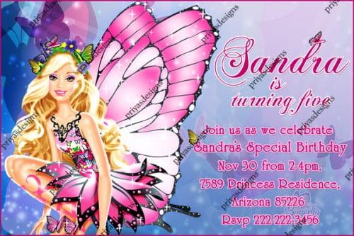 Barbie Birthday Party Invitations \u2013 FREE Printable Birthday