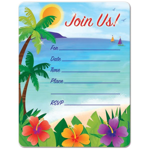 picture relating to Beach Party Invitations Free Printable identified as Seashore Birthday Invites - Anarchistshemale