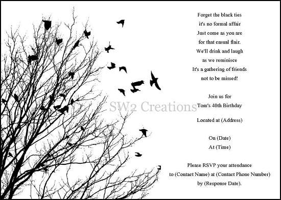 black and white blank invitation templates - Minimfagency