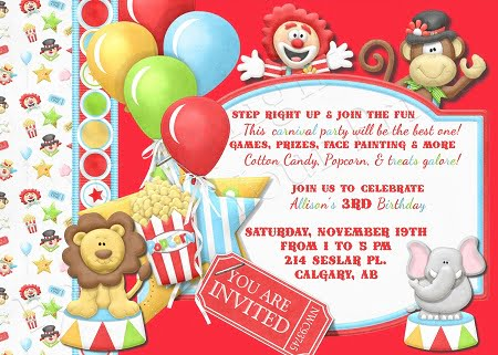 circus birthday party invitations wording \u2013 FREE Printable Birthday