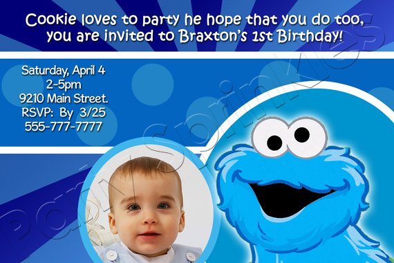 cookie monster first birthday invitations \u2013 FREE Printable Birthday