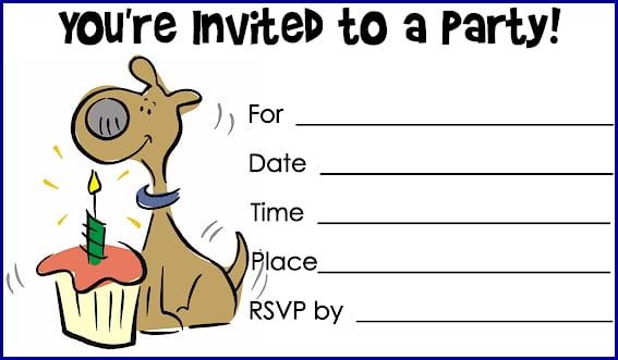 dog birthday invitations free printable \u2013 Bagvania FREE Printable - free birthday invitation printable