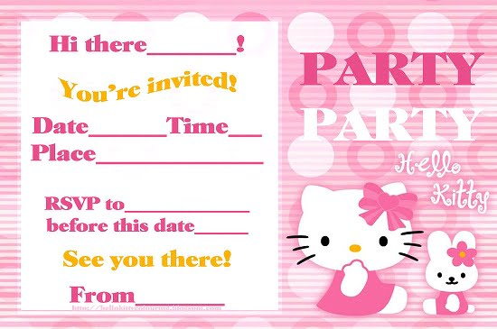 hello kitty birthday party invitations free printable \u2013 FREE
