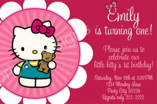 Hello Kitty Birthday Party Invitations Ideas \u2013 Bagvania FREE