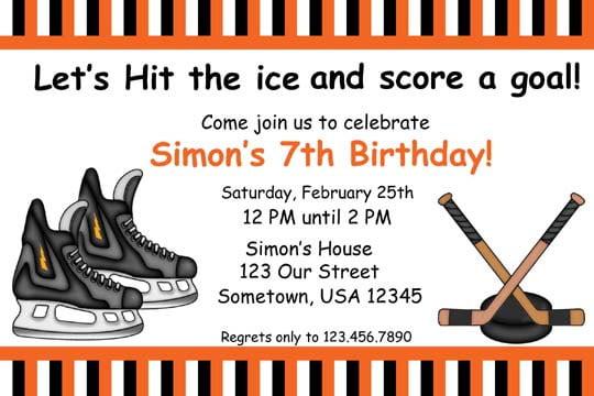 Hockey Birthday Invitations Ideas \u2013 FREE Printable Birthday
