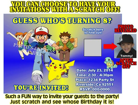 pokemon birthday invitations boys \u2013 FREE Printable Birthday