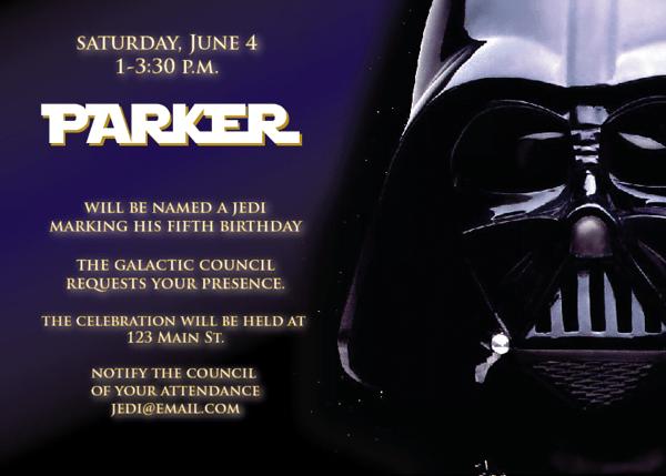Star Wars Birthday Invitations Ideas For Kids BagVania