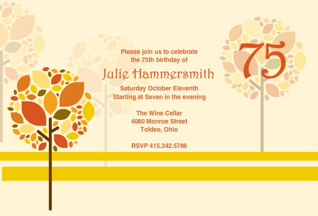 75th Birthday Invitations Ideas Bagvania Free Printable