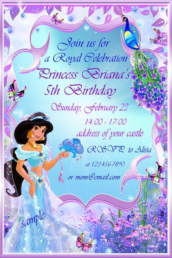 Disney Princess Birthday Party Invitation Template \u2013 orderecigsjuice