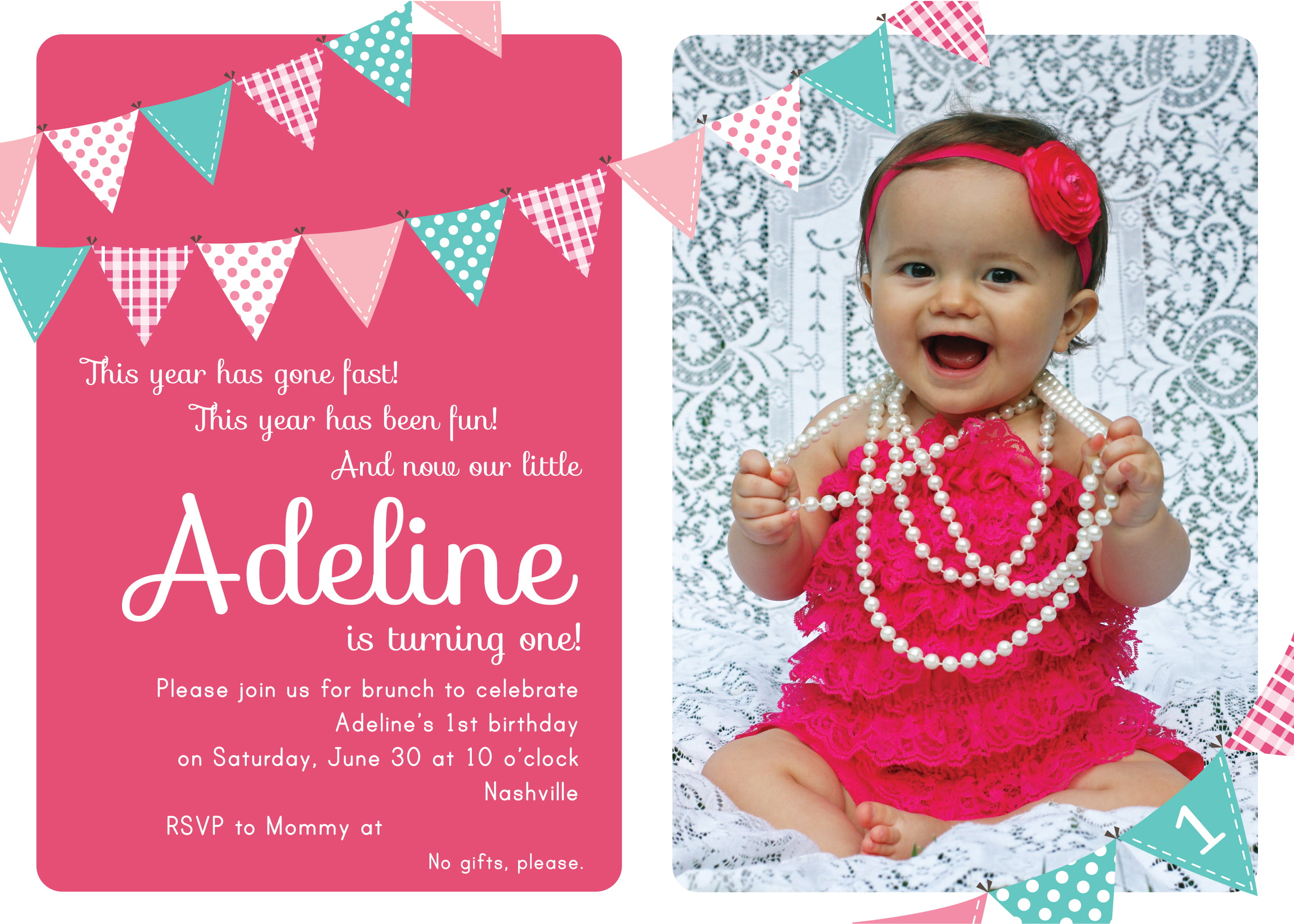 First Birthday Party Invitation Ideas Free Printable